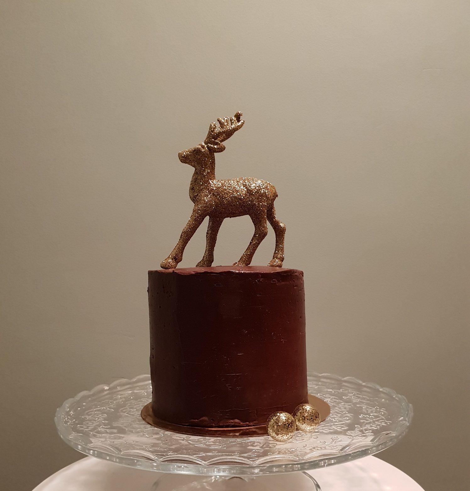 Chocolade kerst taart