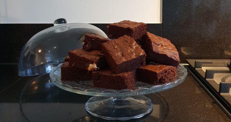 Driedubbele chocolade brownies