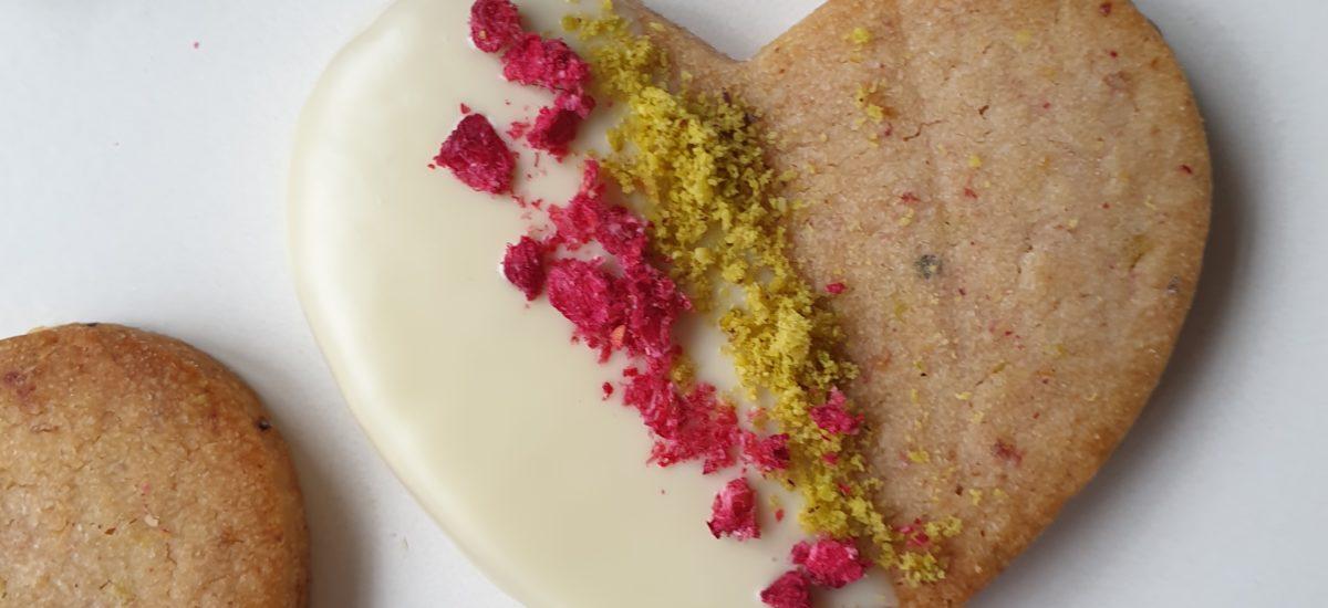 Pistache frambozen koekjes