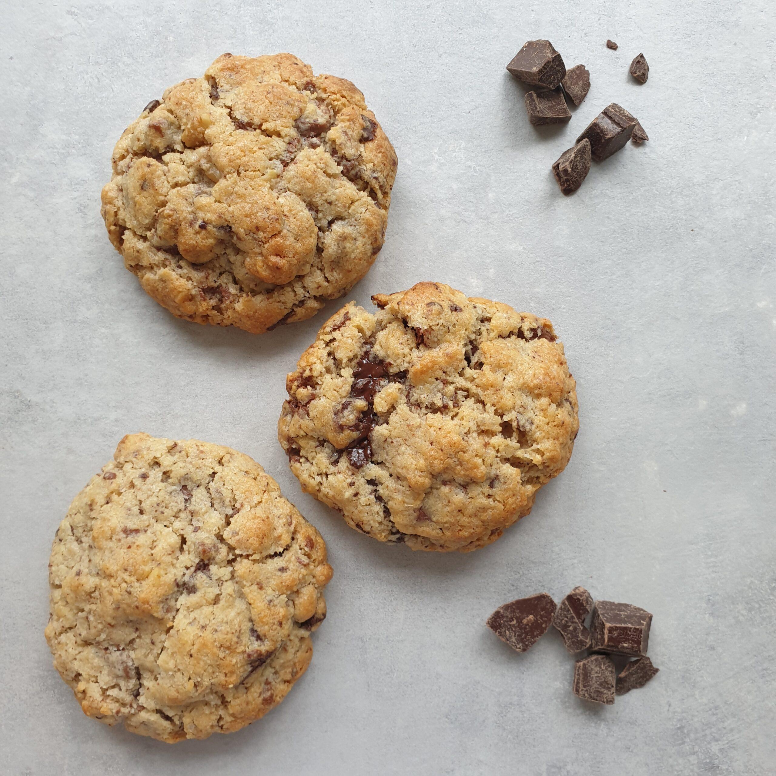 Dikke chocolade koekjes voor intens geluk
